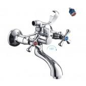 F32732-В Смеситель для ванны с душем 2-х вентильный короткий излив FRAP 32732