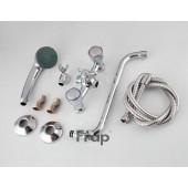 F2211 Смеситель для ванны 2-х вентильный с шаровым переключением на душ S-нос FRAP 2211