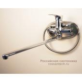 F2214-В Смеситель для ванны с душем картридж 35мм L-нос 40см FRAP 22214-B