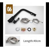 F4372-7 Смеситель для кухни с подключением фильтра питьевой воды картридж 35мм FRAP 4372-7 Черный