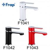 F1041 Смеситель для умывальника литой корпус картридж 35мм FRAP 1041 Белый