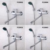 F22021 Смеситель для ванны с душем картридж 40мм L-нос 30см FRAP 22021 (облегченный)