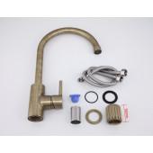 F4052-4 Смеситель для кухни высокий излив картридж Ф40 FRAP 4052-4 Бронза