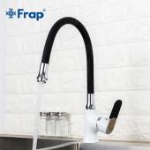 F4034+7250 Смеситель для кухни гибкий излив картридж Ф35 FRAP 4034-7250 Черный