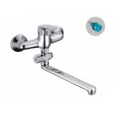 F2116 Смеситель для ванны с душем отдельный дивертор картридж 35мм L-нос 30см 2116