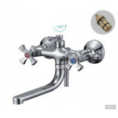F3293 Смеситель для ванны с душем 2-х вентильный короткий излив FRAP 3293