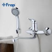 F2203 Смеситель для ванны с душем картридж 40мм S-нос 35см FRAP2203