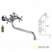 F2708 Смеситель для ванны 2-х вентильный S-нос FRAP 2708