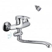 F2128-В Смеситель для ванны с душем отдельный дивертор картридж 40мм S-нос 30см FRAP 2128