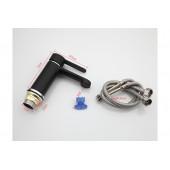 F1042 Смеситель для умывальника литой корпус картридж 35мм FRAP 1042 Чёрный