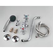 F2220 Смеситель для ванны 2-х вентильный с шаровым переключением на душ S-нос FRAP 2220