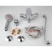 F2204 Смеситель для ванны с душем картридж 40мм L-нос 40см FRAP 2204