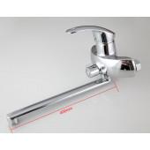 F2221 Смеситель для ванны с душем картридж 40мм L-нос 40см FRAP 2221