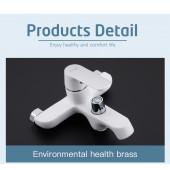 F3231 Смеситель для ванны с душем картридж 35мм короткий излив FRAP 3231 Белый