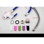 F4034+7253 Смеситель для кухни гибкий излив картридж Ф35 FRAP 4034-7253 Синий