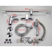 F2822 Готовый комплект смесителей для ванной комнаты 3 в 1 FRAP 2822