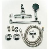 F2129-В Смеситель для ванны с душем отдельный дивертор картридж 40мм S-нос 30см FRAP 2129