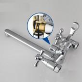 F2224 Смеситель для ванны 2-х вентильный с картриджным переключением на душ L-нос FRAP 2224