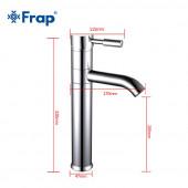 F1052-2 Смеситель для умывальника с поворотным изливом, высокий, картридж 40мм FRAP 1052-2