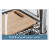 F4321-5 Смеситель для кухни с подключением фильтра питьевой воды картридж 40мм FRAP 4321-5 Сатин
