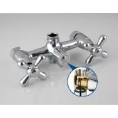 F2225 Смеситель для ванны 2-х вентильный с картриджным переключением на душ L-нос FRAP 2225
