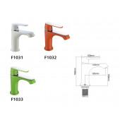 F1031 Смеситель для умывальника литой корпус картридж 35мм FRAP 1031 Белый