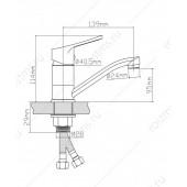 B8255-14A Смеситель для кухни из Латуни, ø35