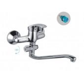 F2136 Смеситель для ванны с душем отдельный дивертор картридж 35мм S-нос 30см FRAP 2136