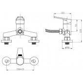SL132-003 Смеситель для душа Картридж 35мм Крепление: настенное (РМС)