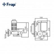 F7513 Смеситель с гигиеническим душем FRAP 7513