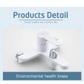F3241 Смеситель для ванны с душем картридж 35мм короткий излив FRAP 3241 Белый