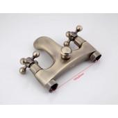 F3019-4 Смеситель для ванны с душем короткий излив 2-х вентильный FRAP 3019-4 античная бронза