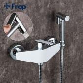 F2058 Смеситель настенный с гигиеническим душем картридж 25мм FRAP 2058 белый/хром