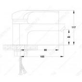 S31-001F Смеситель для умывальника Картридж 40 мм Крепление: гайка (KOMRAD)