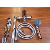 F2228 Смеситель для ванны с душем картридж 40мм L-нос 35см FRAP 2228