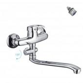 F2139-В Смеситель для ванны с душем отдельный дивертор картридж 35мм S-нос 30см FRAP 2139