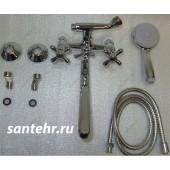 F2125 Смеситель для ванны 2-х вентильный с шаровым переключением на душ L-нос FRAP 2125