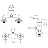 B8282-4A Смеситель для душа из Латуни, ø40
