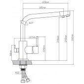 91401 Смеситель для кухни с переключением фильтра для питьевой воды из Латуни, ø35