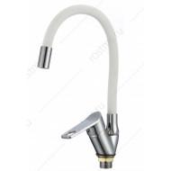 SL137W-016F Смеситель для кухни с высоким гибким изливом Картридж 35мм Крепление: гайка (РМС)