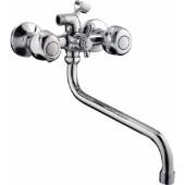 F2226 Смеситель для ванны 2-х вентильный с шаровым переключением на душ S-нос FRAP 2226