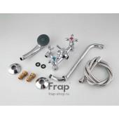 F2227 Смеситель для ванны 2-х вентильный с шаровым переключением на душ S-нос FRAP 2227