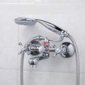 F3024 Смеситель для ванны с душем короткий поворотный излив 2-х вентильный FRAP 3024