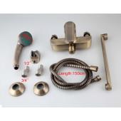 F2230-4 Смеситель для ванны с душем картридж 40мм L-нос 30см FRAP 2230-4 бронза