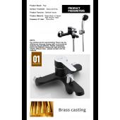 F3242 Смеситель для ванны с душем картридж 35мм короткий излив FRAP 3242 Черный