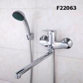 F22063 Смеситель для ванны с душем картридж 40мм L-нос 30см FRAP FRAP22063 (облегченный)