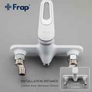 F2249 Смеситель для ванны с душем L-нос 35см FRAP 2249 Белый/Хром