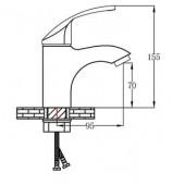 SL85-001F Смеситель для умывальника Картридж 35мм Крепление: гайка (РМС)