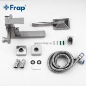 F32802 Смеситель для ванны с душем поворотный укороченный излив 18см из нержавеющей стали FRAP 32802