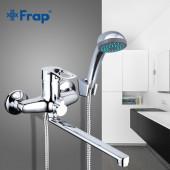 F22701-В Смеситель для ванны с душем картридж 40мм L-нос 30см FRAP 22701